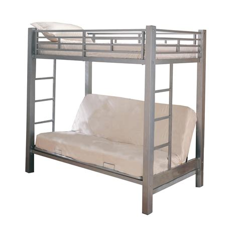 sized bunk beds home source size bunk bed sleeper by oj commerce 13017silver 596 99