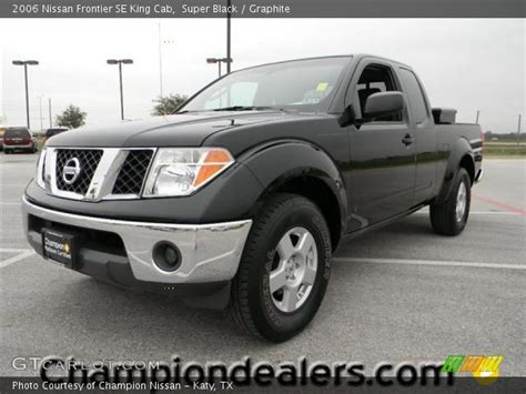 find used 2006 nissan frontier se king cab 4wd damaged salvage low miles priced to sell in super black 2006 nissan frontier se king cab graphite interior gtcarlot com vehicle