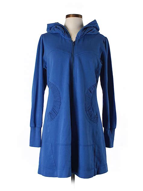 c m c by color me cotton solid blue zip up hoodie size m