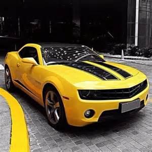 yellow bumblebee chevrolet camaro cars