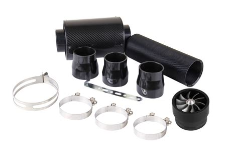 Terlaris Carbon Air Intake Set Filter Udara Carbon Termasuk Slang Dan kylin racing cold feed induction air intake kit carbon fibre air filter box with fan in air