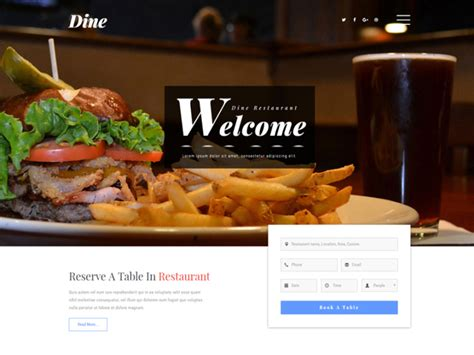 bootstrap templates for restaurant free download top 10 best free restaurant bootstrap templates in 2017