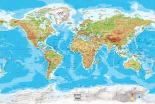 Detailed World Map by Pics Photos Detailed Physical Map The World Large