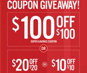 Jcpenney Coupon Giveaway December 2016 - free 10 20 or 100 jcpenney coupon giveaway in stores on 26th free product sles