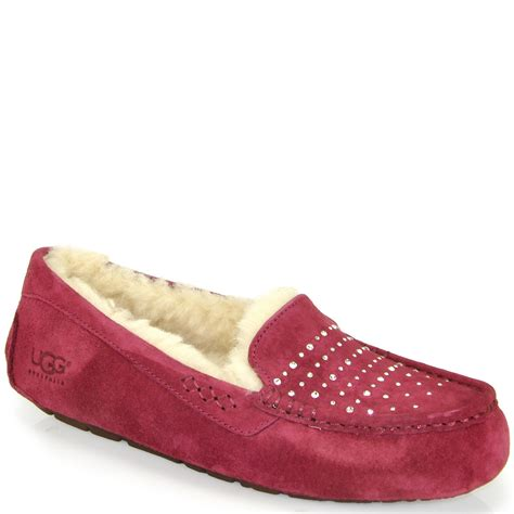 bling slippers ugg ansley bling moccasin in lyst