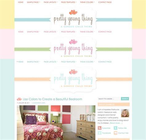 theme blog pink cute pink wordpress theme pretty young thing dobeweb