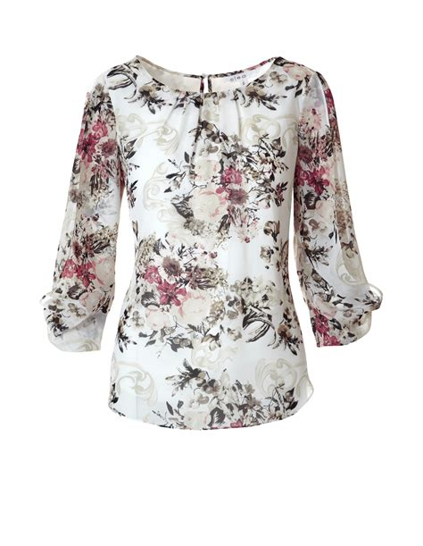 Buterfly Blouse 3 4 sleeve butterfly blouse cleo