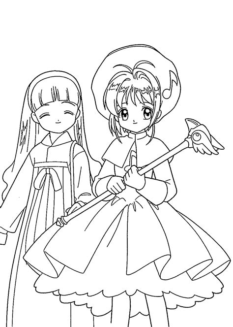 Fresh Cardcaptor Sakura Coloring Pages 40 With Additional Cardcaptor Coloring Pages