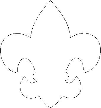 fleur de lis template for all your scout pages
