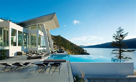 all elements design kelowna okanagan lake waterfront home with minimalist elegant