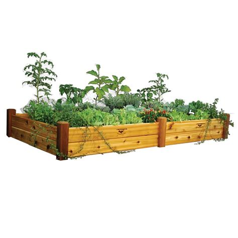 home depot garden bed gronomics raised garden bed 48x95x13 safe finish the