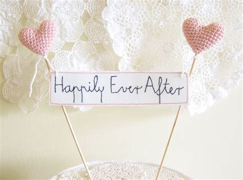 Wedding Cake Topper Happily Ever After Cake Banner Sign
