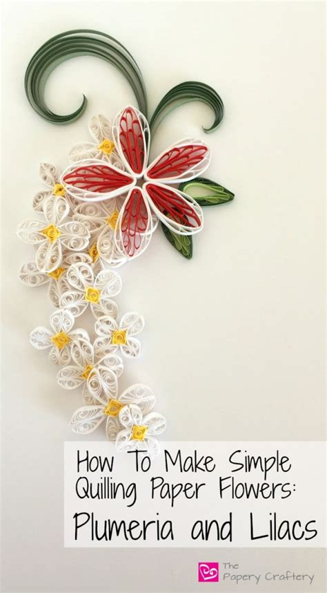 quilling easy tutorial how to make simple quilling paper flowers plumeria and