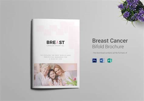 12 Breast Cancer Brochure Templates Free Psd Ai Illustrator Pdf Format Download Free Cancer Brochure Template