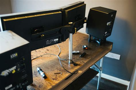 Tablet Wall Mount Diy by How I Built A Custom Desk And Wire Free Workspace For My