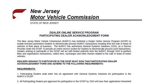 dept of motor vehicles nj new jersey motor vehicle forms vehicle ideas