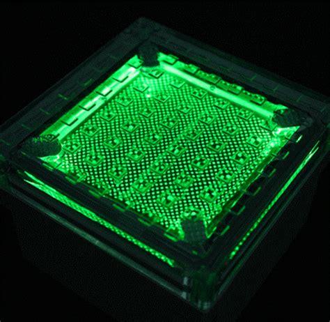 and green solar lights solar cynergy waterproof solar led paver light rsc500 4