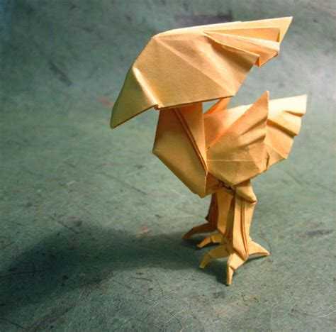 Chocobo Origami - adorable origami chocobo finalfantasy
