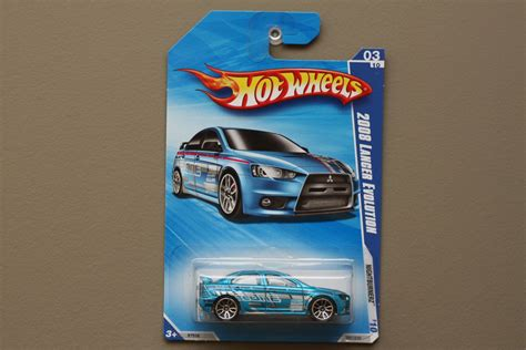 Hotwheels Lancer Evolution 2008 wheels 2010 nightburnerz 2008 mitsubishi lancer evolution blue