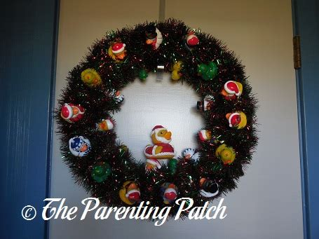 wreath rubber st the duck and the duck oration wreath the rubber