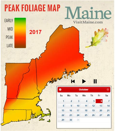 foliage map 2017 new fall foliage forecast new today