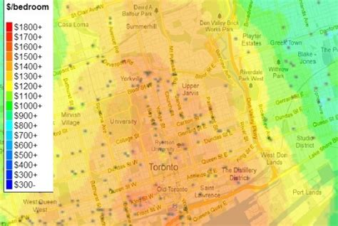 Apartment Price Map Overview Of Toronto Apartment Prices