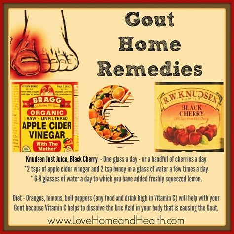 a gout home remedy that will give you serious relief