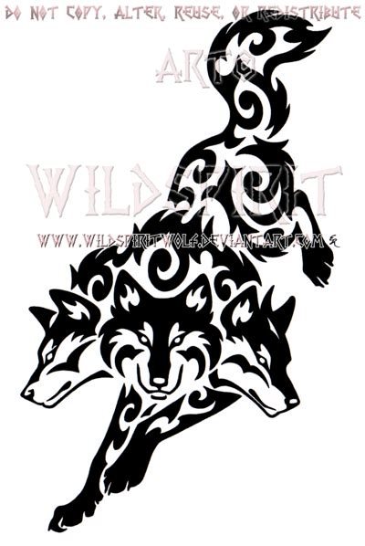 tribal cerberus design by wildspiritwolf on deviantart