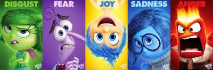 Inside out character profiles anger joy disgust fear and sadness