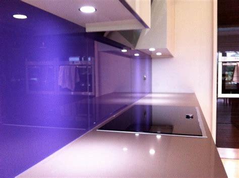 Purple Painted Kitchen by Purple Back Painted Glass Kitchen Splash Back House