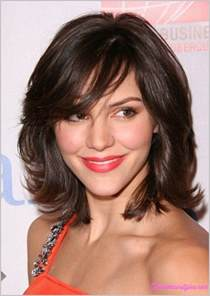 layered medium lenght hair with bangs medium length haircuts with side swept bangs and layers