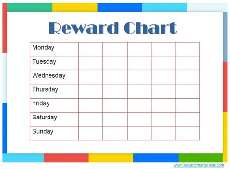 Reward Chart Templates Find Word Templates Reward Chart Template