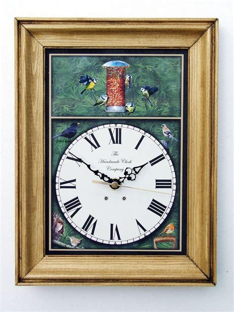 Handmade Clocks Uk - handmade wooden garden birds clock gardenbanter co uk