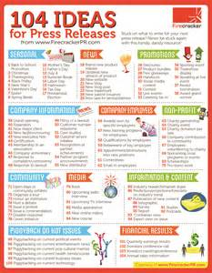 ideas for quick reference guide 104 ideas for press releases technology pr technology public