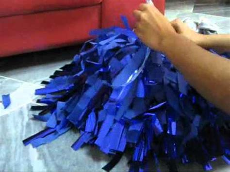 How To Make Paper Pom Poms For Cheerleading - how to make ur cheer poms blue house
