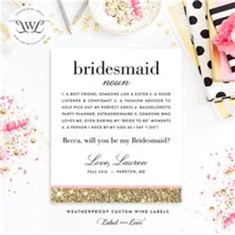 bridesmaid wine bottle on pinterest free wedding