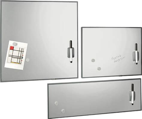 Bor Magnet Modern stainless steel magnetic erase boards modern bulletin boards and chalkboards by the