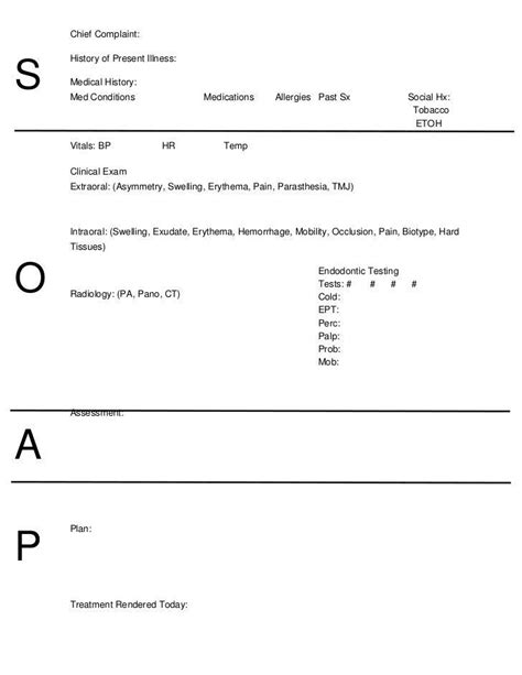 free soap note template soap note template