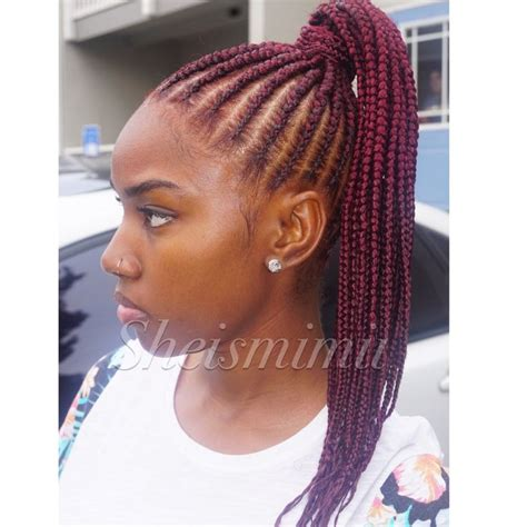 red cornrow braided hair stunningly cute ghana braids styles for 2018 braided