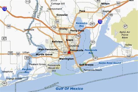 pensacola map pensacola fl pictures posters news and on your pursuit hobbies interests and worries