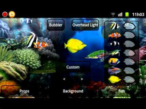 live wallpaper android youtube aquario live wallpaper android market youtube