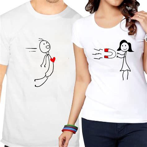 Couples Tshirt Tshirts Magnet Newayprints