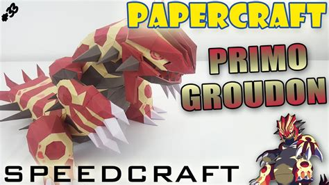 Groudon Papercraft - papercraft primal groudon speedcraft of the