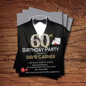 casino 60th birthday invitation birthday
