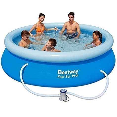 Set Family New 30 bestway fast set family garden paddling swimming pool 10x30 quot a bw57109