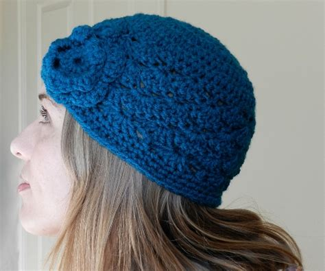 grow creative shell stitch crochet hat free pattern