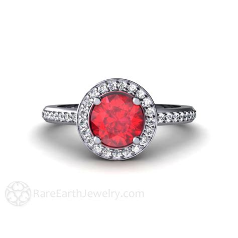 ruby engagement rings ruby engagement ring halo ruby ring custom wedding