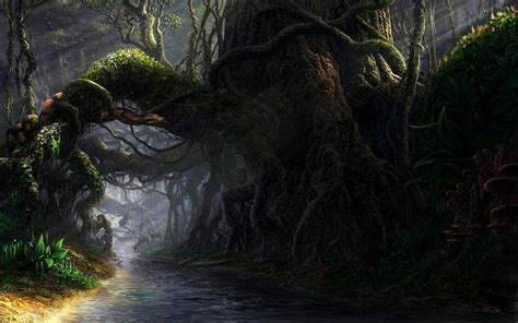 wallpaper abyss forest shadowhaven full hd wallpaper and background image