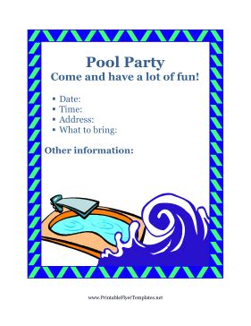 Flyer For Pool Party Swimming Flyer Templates Free