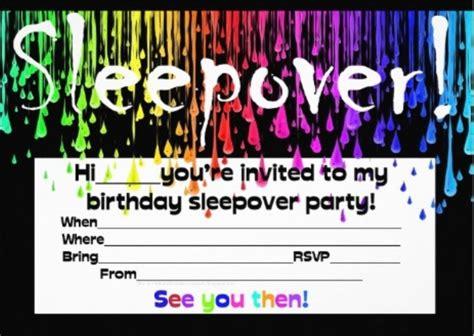 Sleepover Birthday Invitations Template   no2powerblasts.com